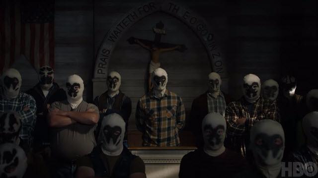 Rorschach masks in HBO Watchmen teaser