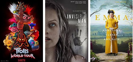 Universal Pictures Coronavirus Releases